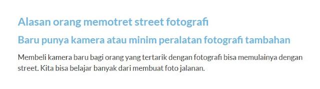 Fotografi Jalanan : Genre Untuk Orang Miskin?