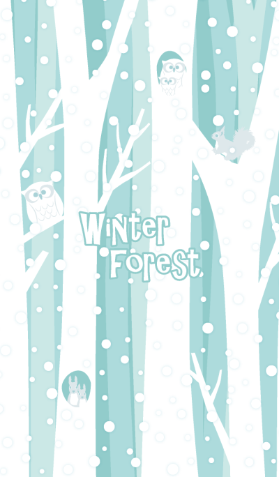 Winter forest & animals