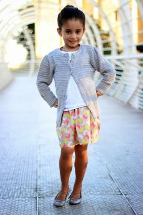 Gray Sweater and Skater Skirt