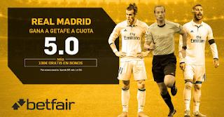 betfair supercuota victoria del Real Madrid al Getafe 14 octubre