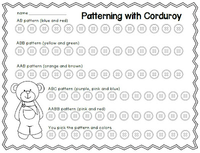 teach with laughter patterning with corduroy. Black Bedroom Furniture Sets. Home Design Ideas