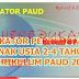 DOWNLOAD INDIKATOR PERKEMBANGAN PAUD USIA 2 - 4 TAHUN SESUAI PERMEN TERBARU NO 146