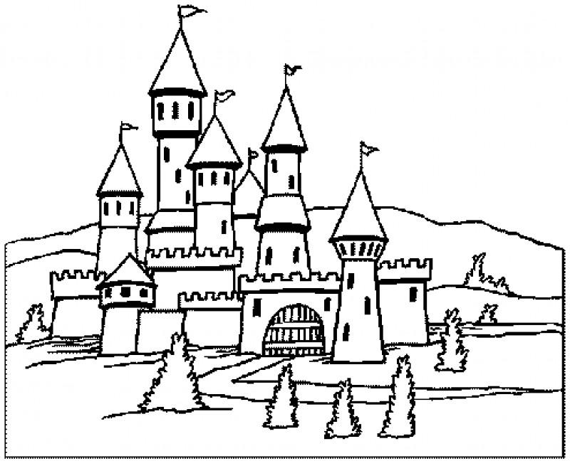 dibujos para colorear de castillos