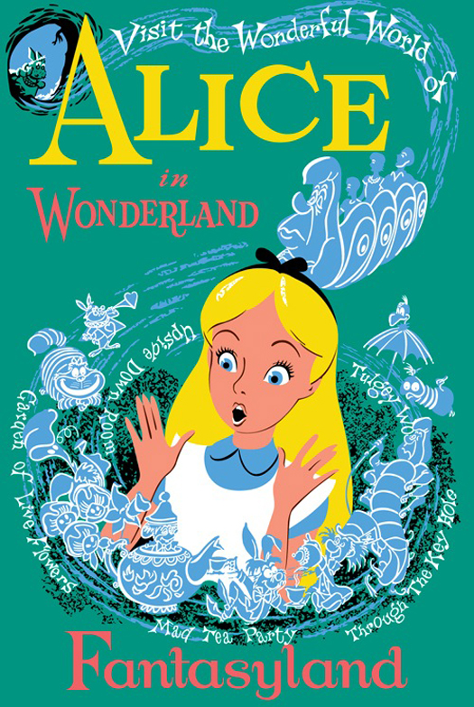 Disney Hipster Blog: Alice In Wonderland Dark Ride Love.