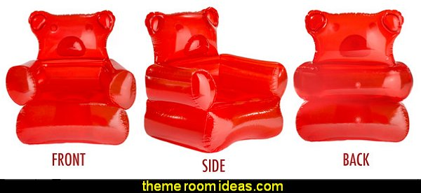 Gummy Bear Chair  cupcakes bedroom ideas - cupcakes theme candy decorating candyland sweets - cupcake bedding - cupcake decor - candy decor -  Ice Cream decor - cupcakes and candy bedroom ideas - candy theme bedroom - cupcakes and candy decor - Candy party props - Candy party decorations - candyland gingerbread decorations
