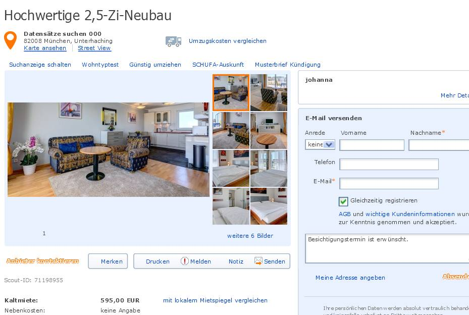 alias johanna hochwertige 2 5 zi neubau datens tze suchen 000 82008. Black Bedroom Furniture Sets. Home Design Ideas