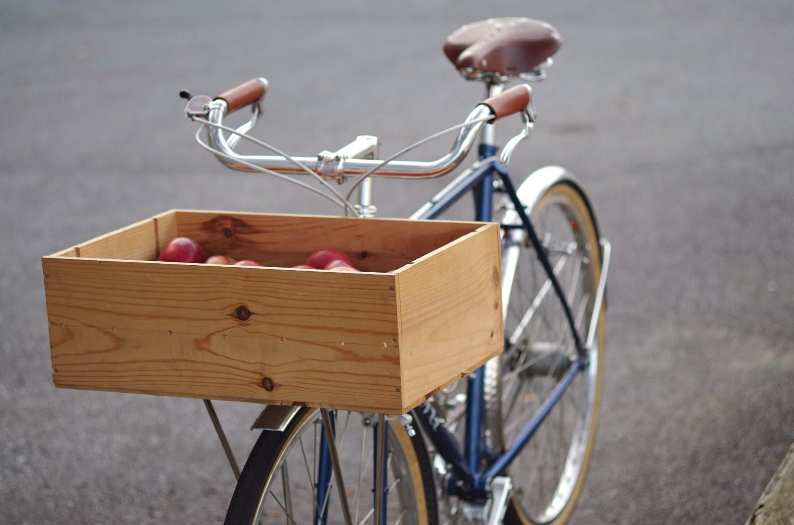 The Velo Orange Blog Wine Crate Bike Basket A Diy Bike Project