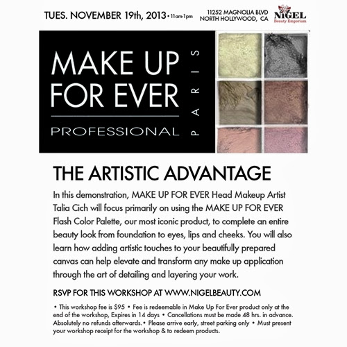 Make Up For Ever Workshop at Nigel's Beauty Emporium
