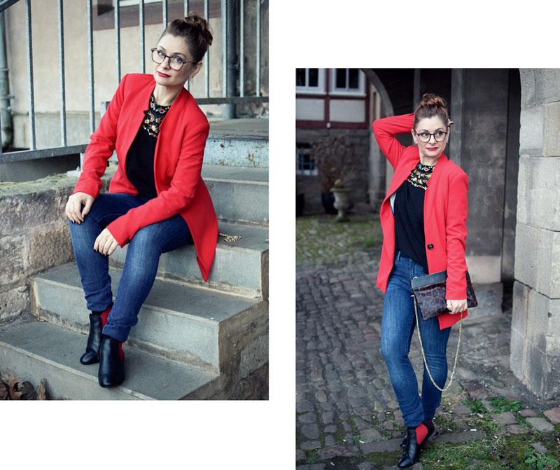 Outfit für den Valentinstag, was trage ich am Valentinstag, Outfit in Rot