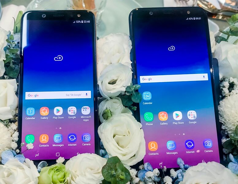 Samsung Galaxy A6 and Galaxy A6+ (Front)