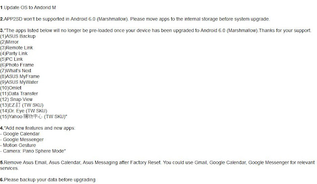 release note android 6.0