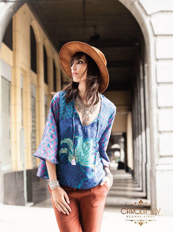 Moda invierno 2016 ropa de mujer Carola Lev.