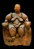Estatuilla mujer sentada Catalhoyuk