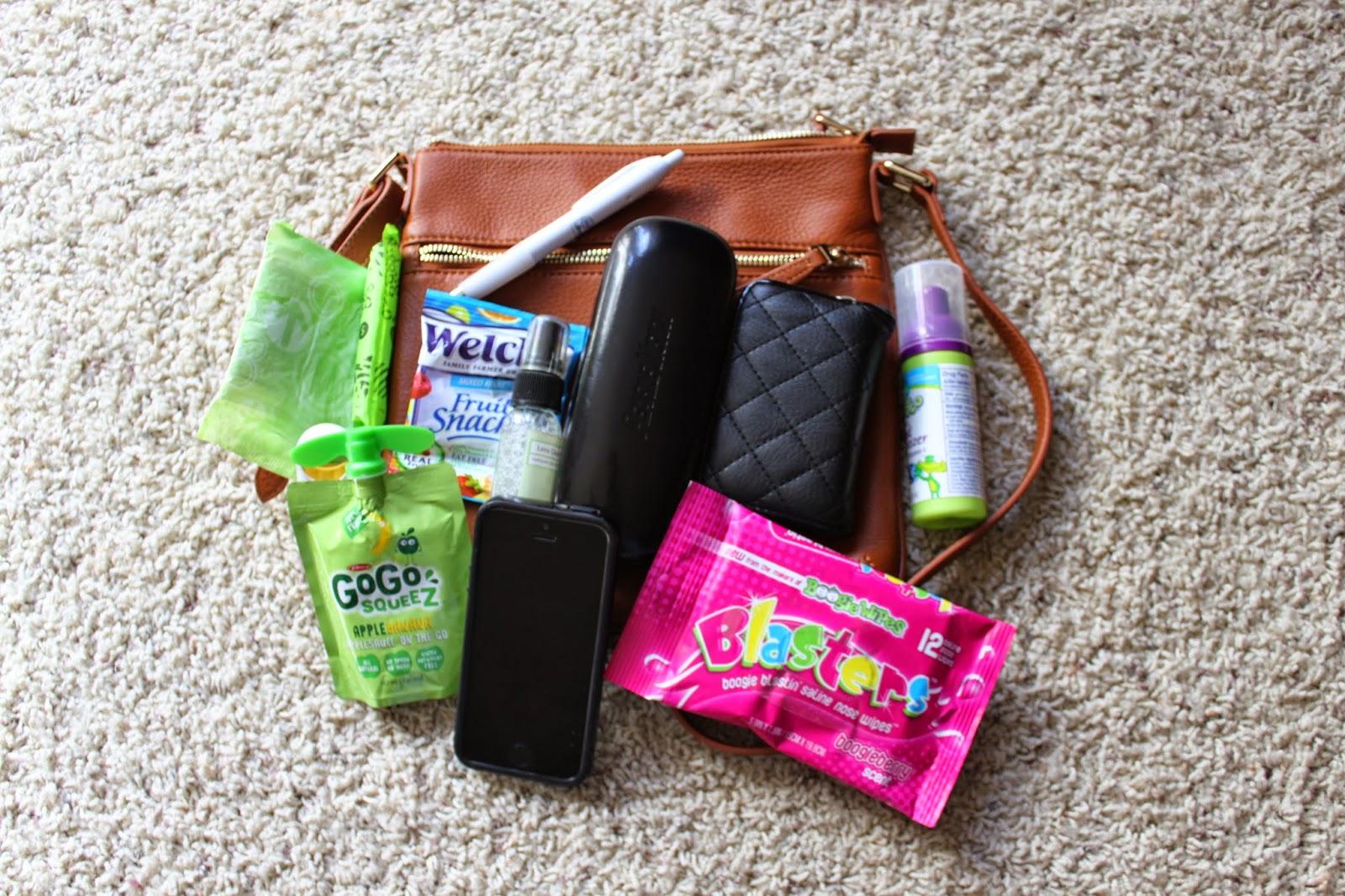SUSU Saxon Crossbody Handbag mom/toddler contents #review