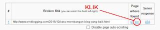 Selanjutnya  Klik src untuk melihat link error tersebut ada pada Artikel mana