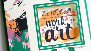 Stampin' Up! Playful Painter's Palette Peek-a-boo Card #stampinup www.juliedavison.com