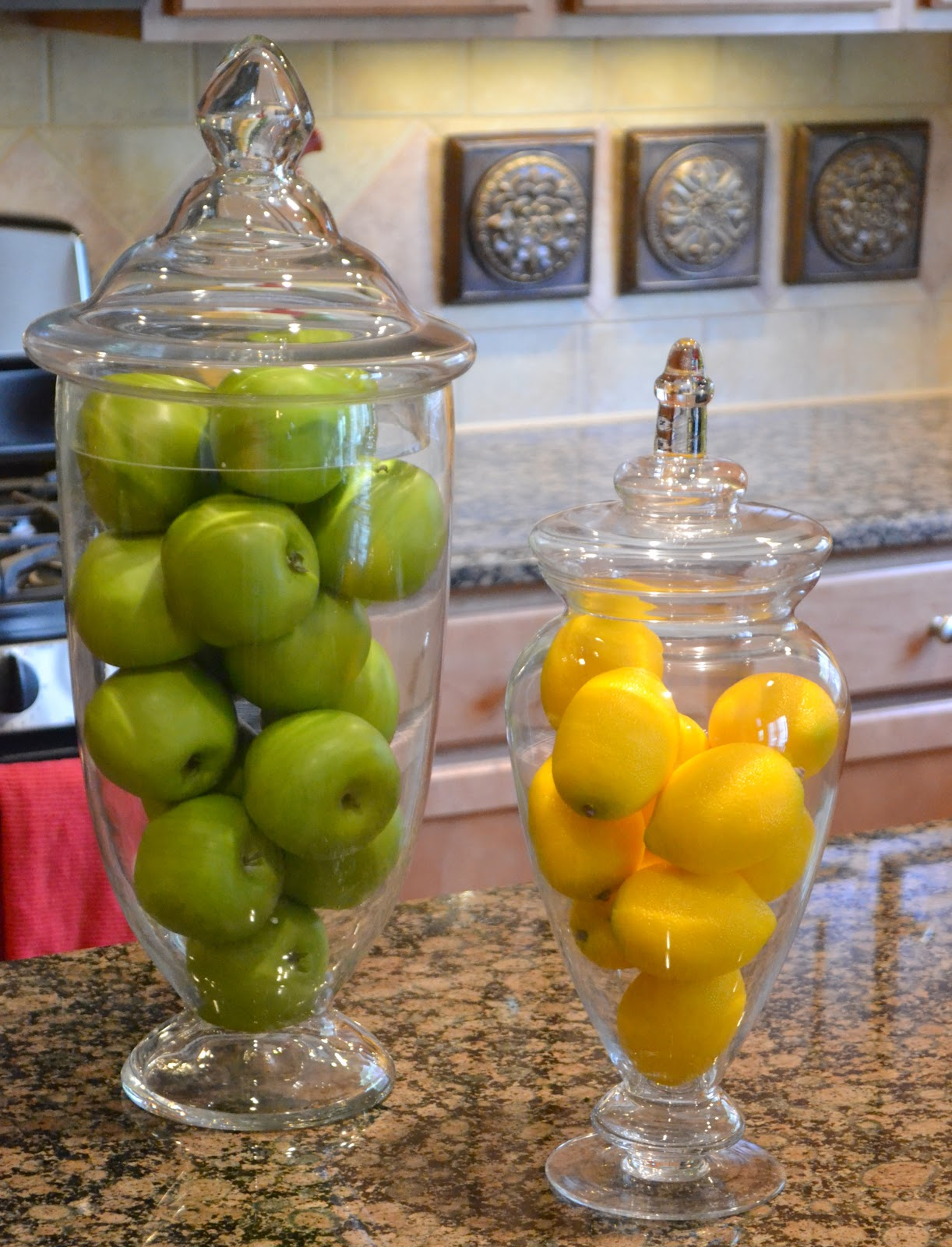 decorative glass jars for kitchen cabinets designs house tour the worthing court