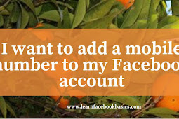 I want to add a mobile number to my account on Facebook