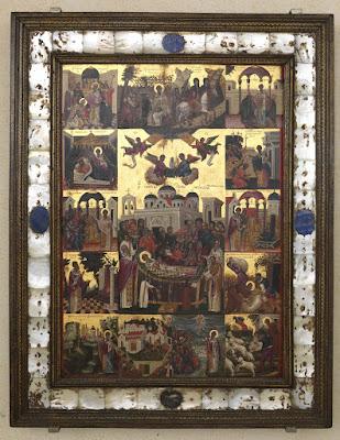 εικ. Η Κοίμηση του Αγίου Σπυρίδωνος   και σκηνές του βίου του   Εμμανουήλ Τζανφουρνάρης, 1595 μ.Χ.