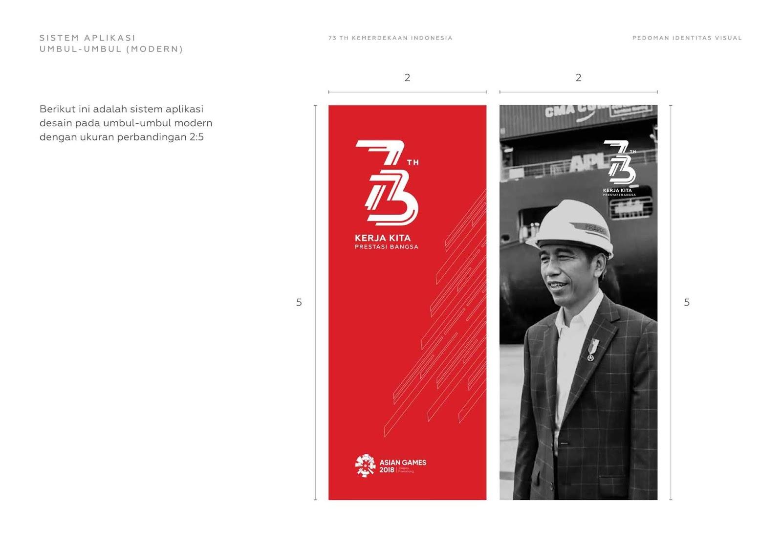 Contoh Penggunaan Logo Hut Ri Ke 73 Tahun 2018 Di Berbagai Media