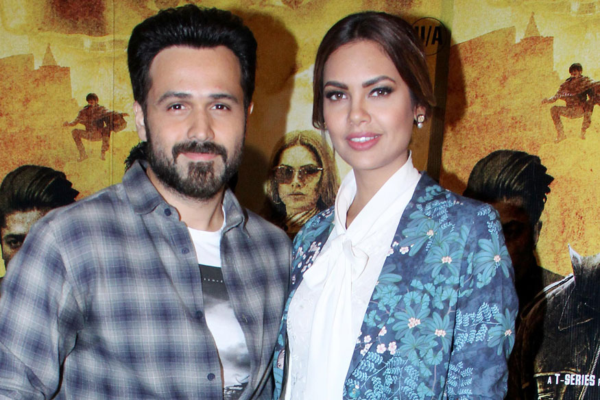 Emraan Hashmi and Esha Gupta During Promotion of film Baadshaho