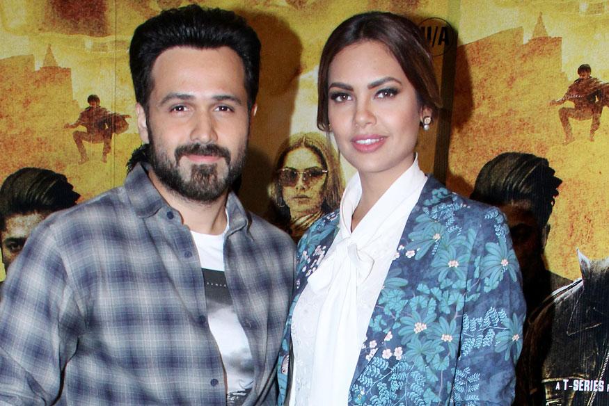 Emraan Hashmi and Esha Gupta During Promotion of film Baadshaho