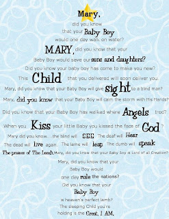 mary did you know printable