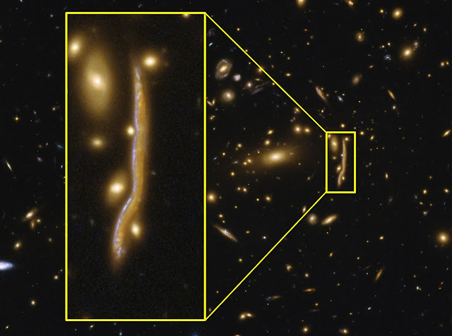 Anatomy of a cosmic snake reveals structure of distant galaxies