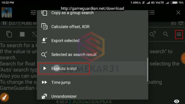 Cara Cheat/Hack PUBG Mobile Menggunakan Game Guardian 2019