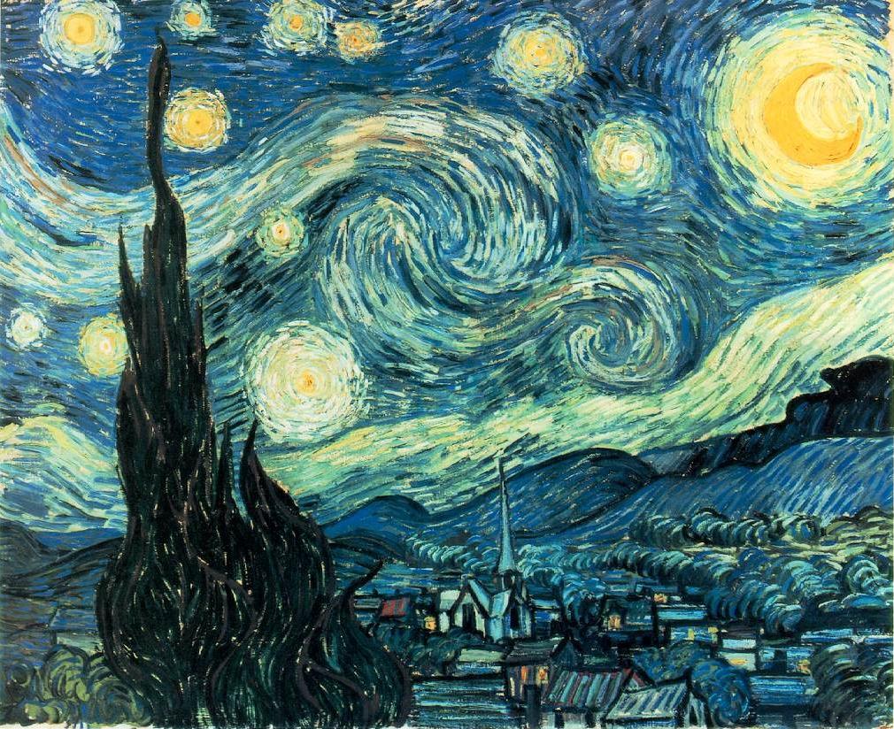 A Noite Estrelada - Van Gogh - A segunda pintura mais famosa do mundo