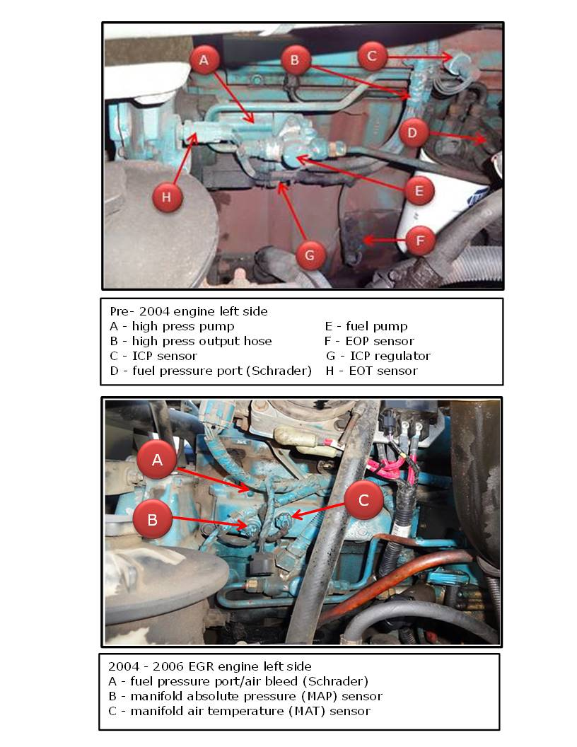 hight resolution of engine component image dt466e and egr