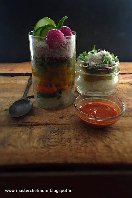 Sabudana Khichdi Salad In A Jar   Deconstructed Sabudana Salad In A Jar   Traditional Maharastrian Breakfast In A Jar  