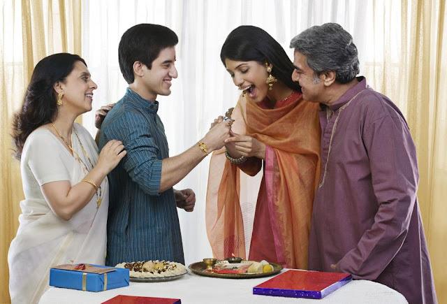 Love of Sister and Brother in Raksha Bandhan