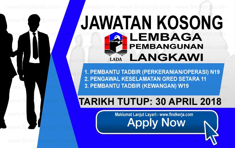 Jawatan Kerja Kosong LADA - Lembaga Pembangunan Langkawi logo www.findkerja.com april 2018