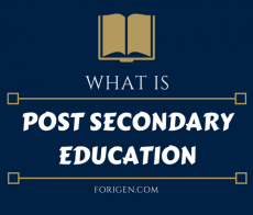 Definition Of Post-Secondary Education