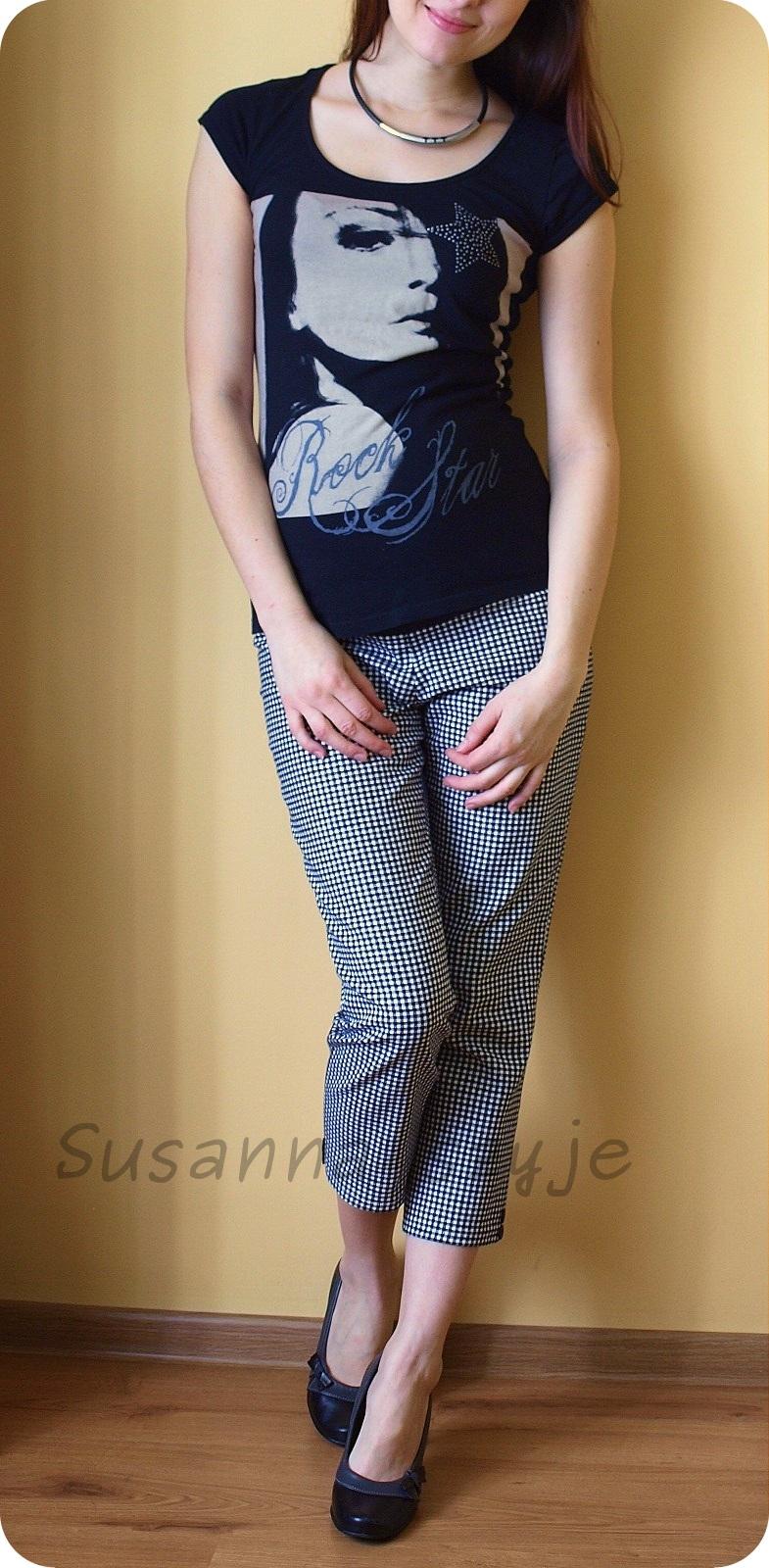 55686d0b Susanna szyje: Pepitka nie każdemu w smak - spodnie ciążowe model ...