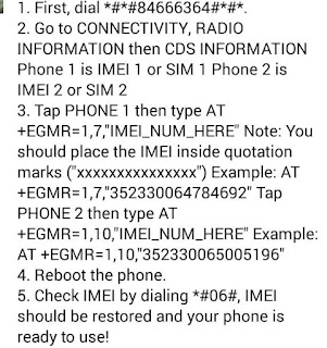MANUAL FIX YOUR IMEI