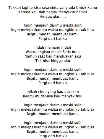 Lirik Lagu Aliando Pergi Dari Hatiku