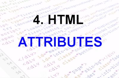 hmtl attributes