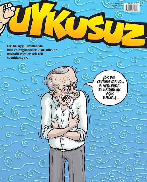 Uykusuz Dergisi | 29 Eylül 2016 Kapak Karikatürü
