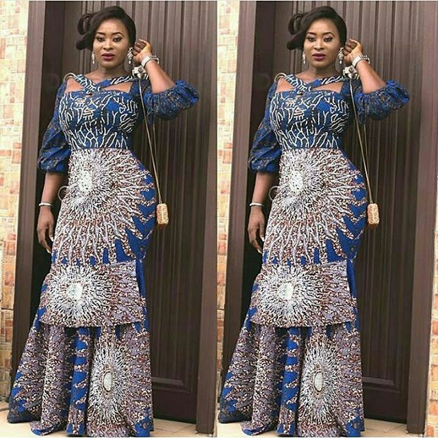 Recent Ankara Gown Styles for Beautiful African Ladies - Zaineey\'s Blog