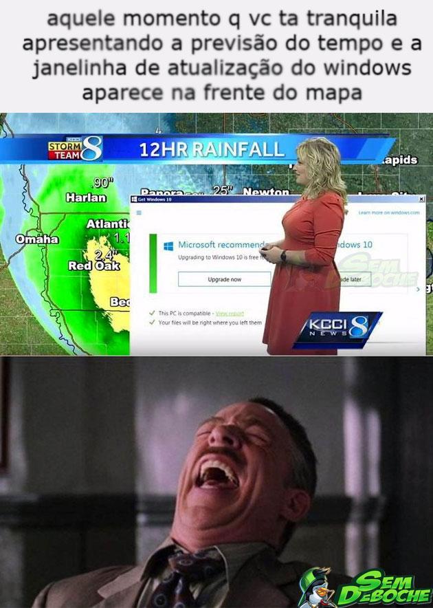 A JANELINHA DE ATUALIZAÇÃO DO WINDOWS ATACA NOVAMENTE