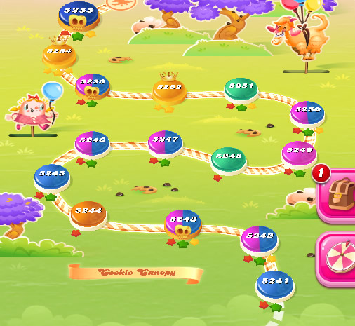 Candy Crush Saga level 5241-5255