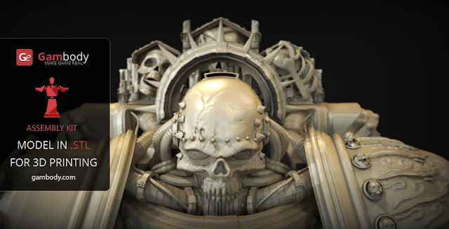 Chaplain Warhammer40k 3D figure for 3d printing
