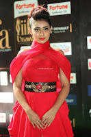 Apoorva in a Stunning Tight Leg Split Sleeveless Red Gown at IIFA Utsavam Awards 42.JPG