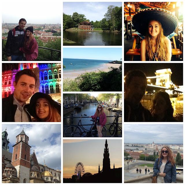 interrail europe photo collage