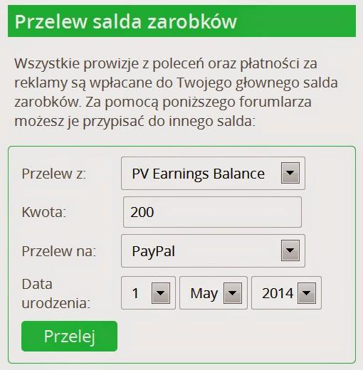 Jak wypłacać zarobione środki z Paidverts