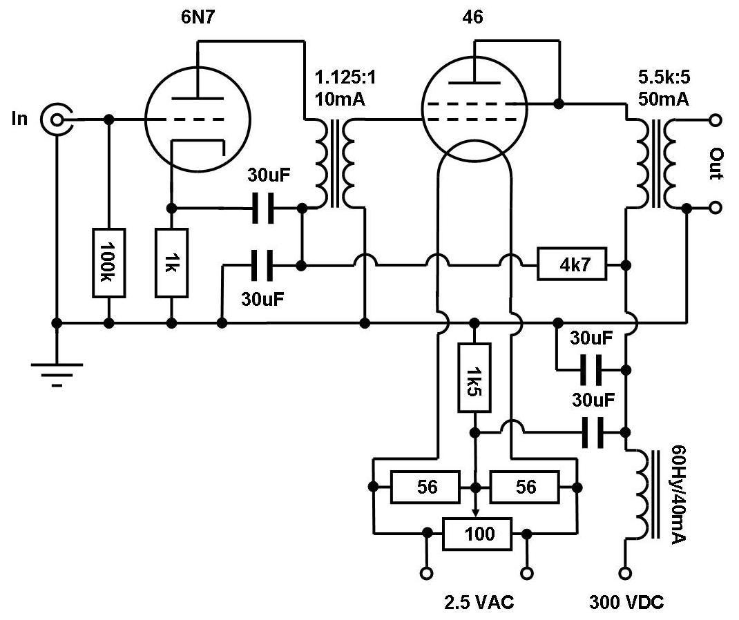 46 Tube Amp Schematic Wire Center White Noise Generator Circuit With Mm5837n Vinylsavor Single Ended Amplifier Concept Part 7 Rh Blogspot Com High End Schematics Simple