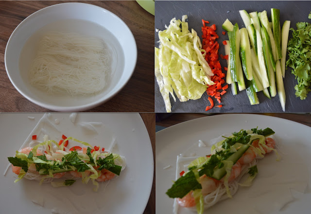 Making Vietnamese Spring Rolls at home, Tesco Spring Rolls Kit, Gingey Bites