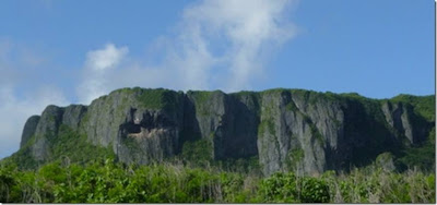 cliff on the nearby island of Saipan